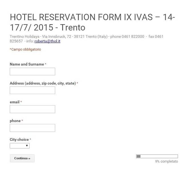 Hotel booking travel and accomodation ivas2015 eventi fill out the reservation form thecheapjerseys Choice Image